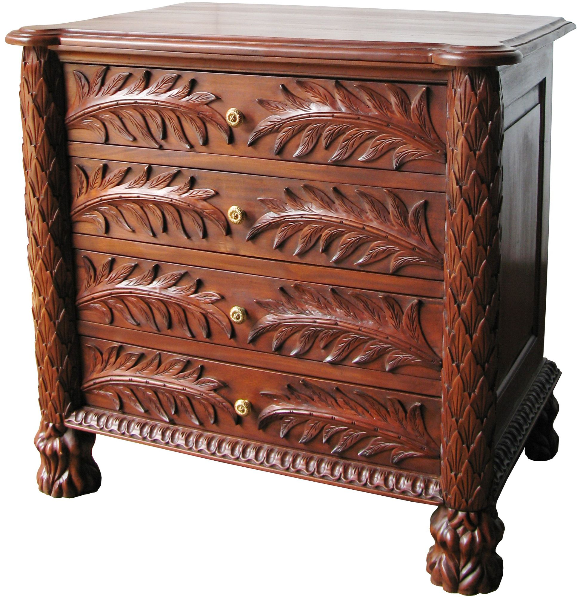 Best 4 Drawer Palm Chest Features Intricate Palm Tree Detail 640 x 480
