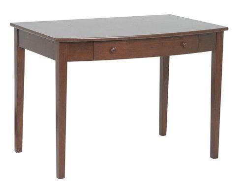 """42"""" Compact Hardwood & Veneer Desk in Walnut"""