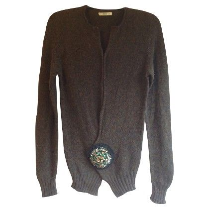 Prada Cardigan With Brooch Fashion Online Shop Fashion Online Fashion Design