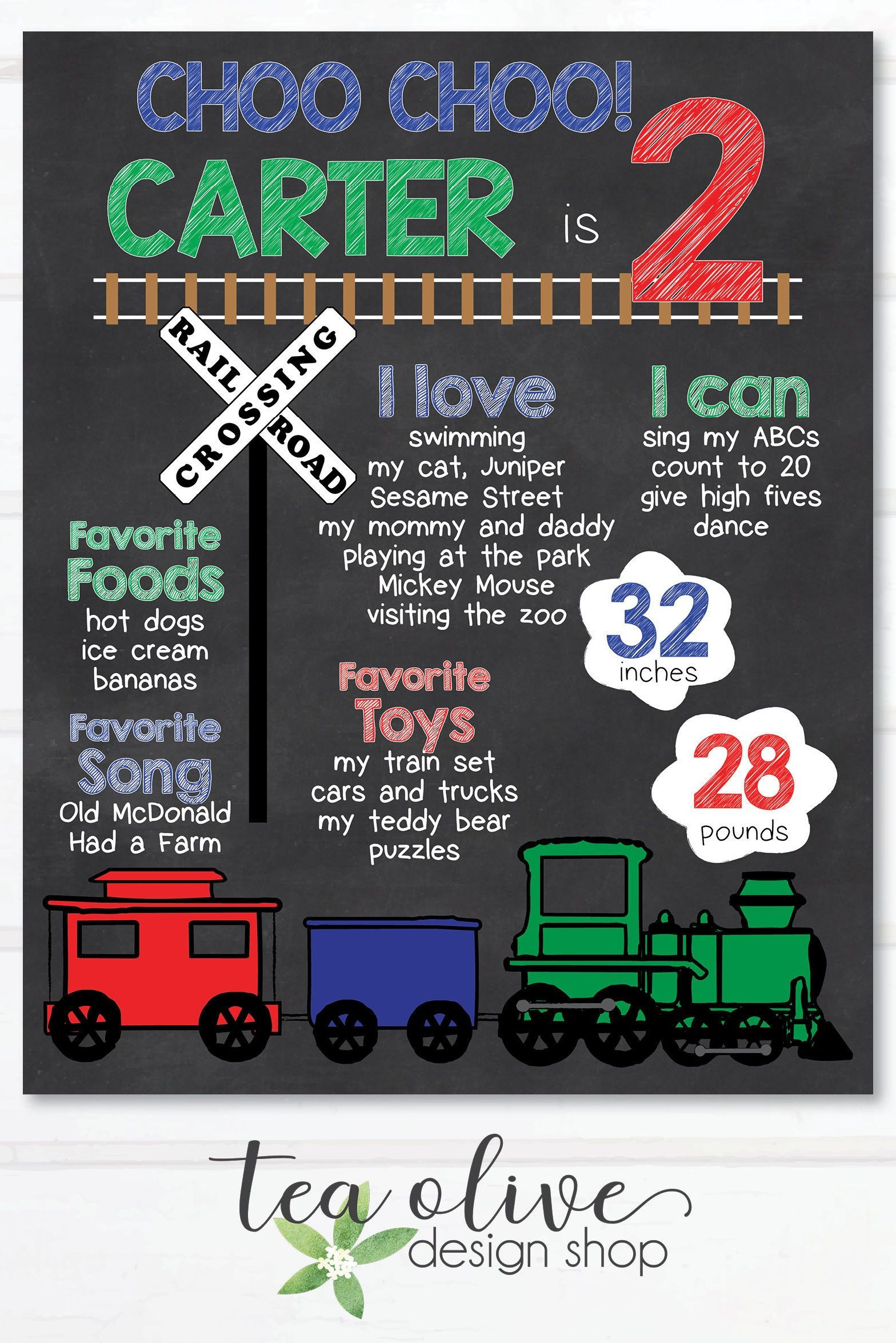 Train Chalkboard Poster Train Party Train Birthday Train Birthday Chalkboard Chalkboard Sign Milestones Birthday Poster Boy Birthday