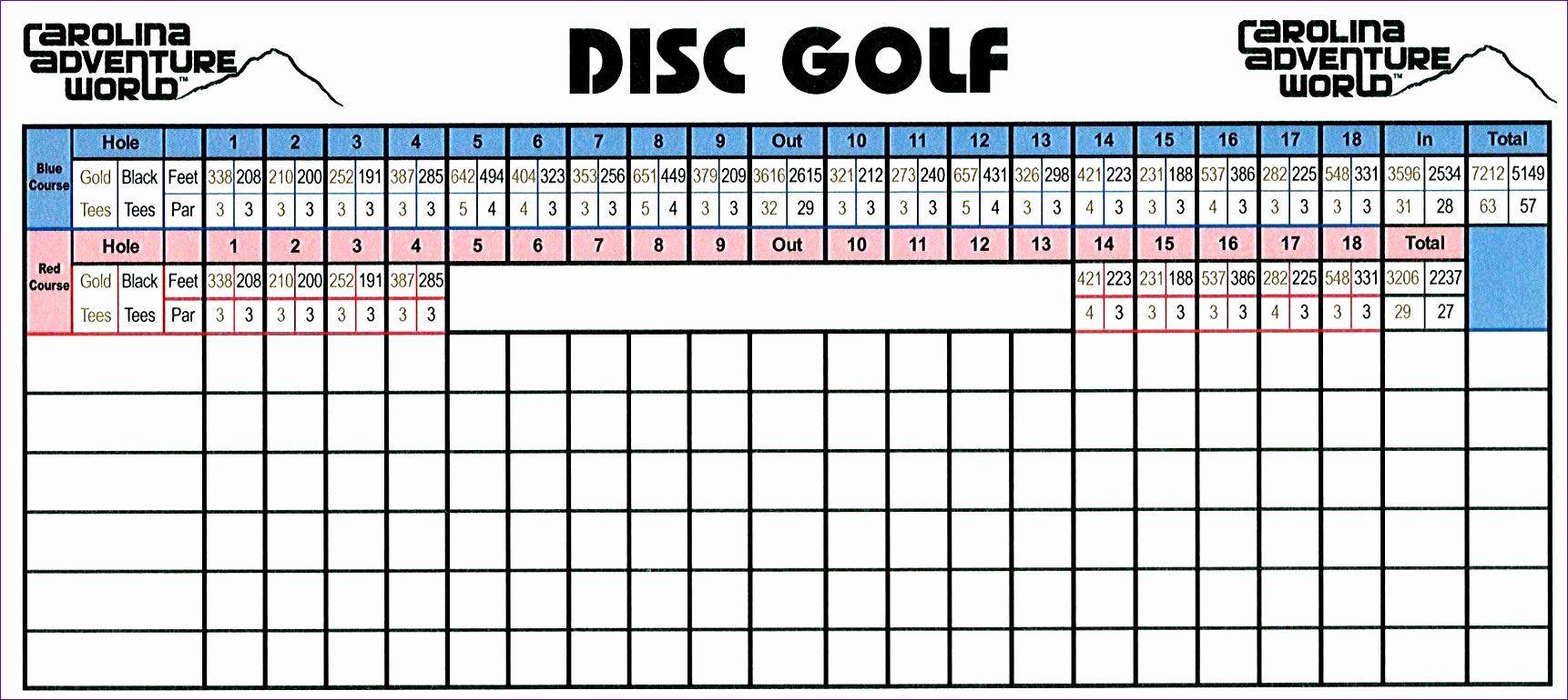Golf Scorecard Template Excel Unique 6 Golf Scorecard Template Excel Exceltemplates Golf Course Reviews Golf Scorecard Disc Golf Course Review