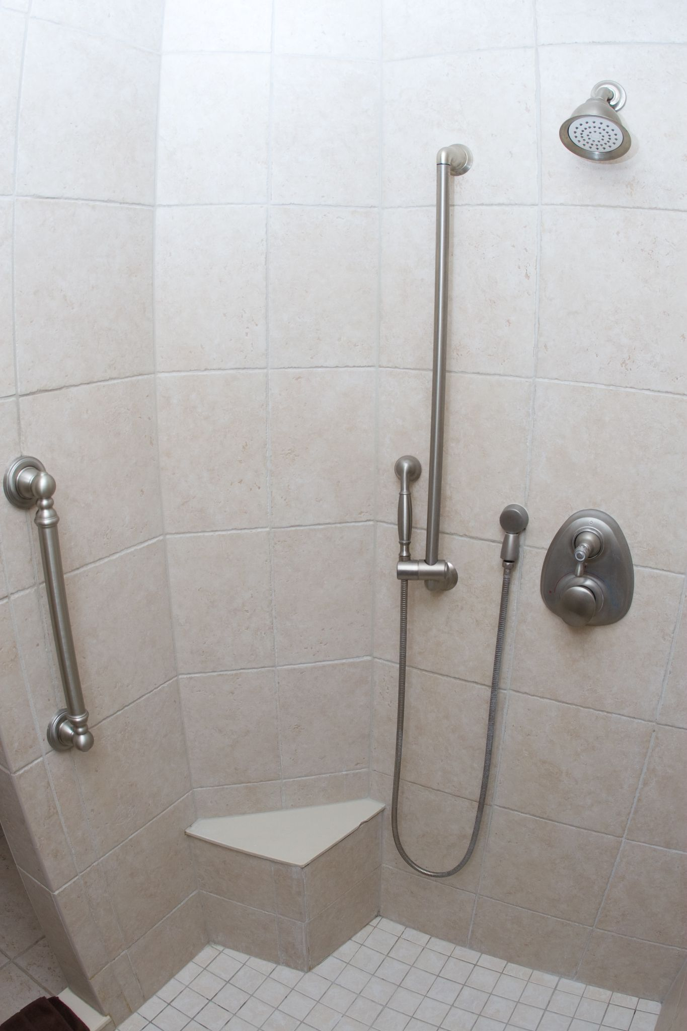 Handicapped showers with seats built in | Shower seat built in with ...