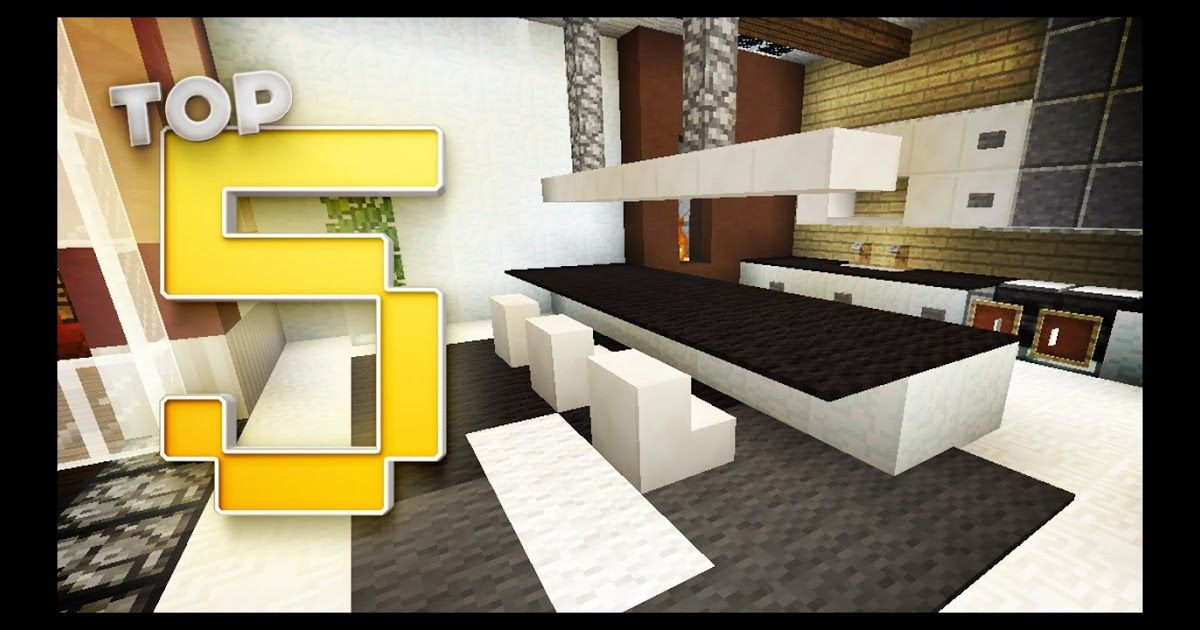 Minecraft Kitchen Designs Ideas Minecraft Modern Kitchen Minecraft Modern Kit In 2020 Minecraft Kitchen Ideas Minecraft Modern House Blueprints Online Interior Design
