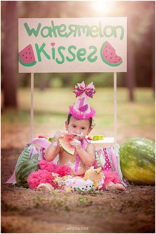 fc11bb0f8 Watermelon birthday smash cake photoshoot | Olivia's 1st Birthday ...