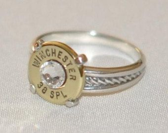 Winchester 410 Gauge Shotgun Shell Double Bullet Ring Dream Closet
