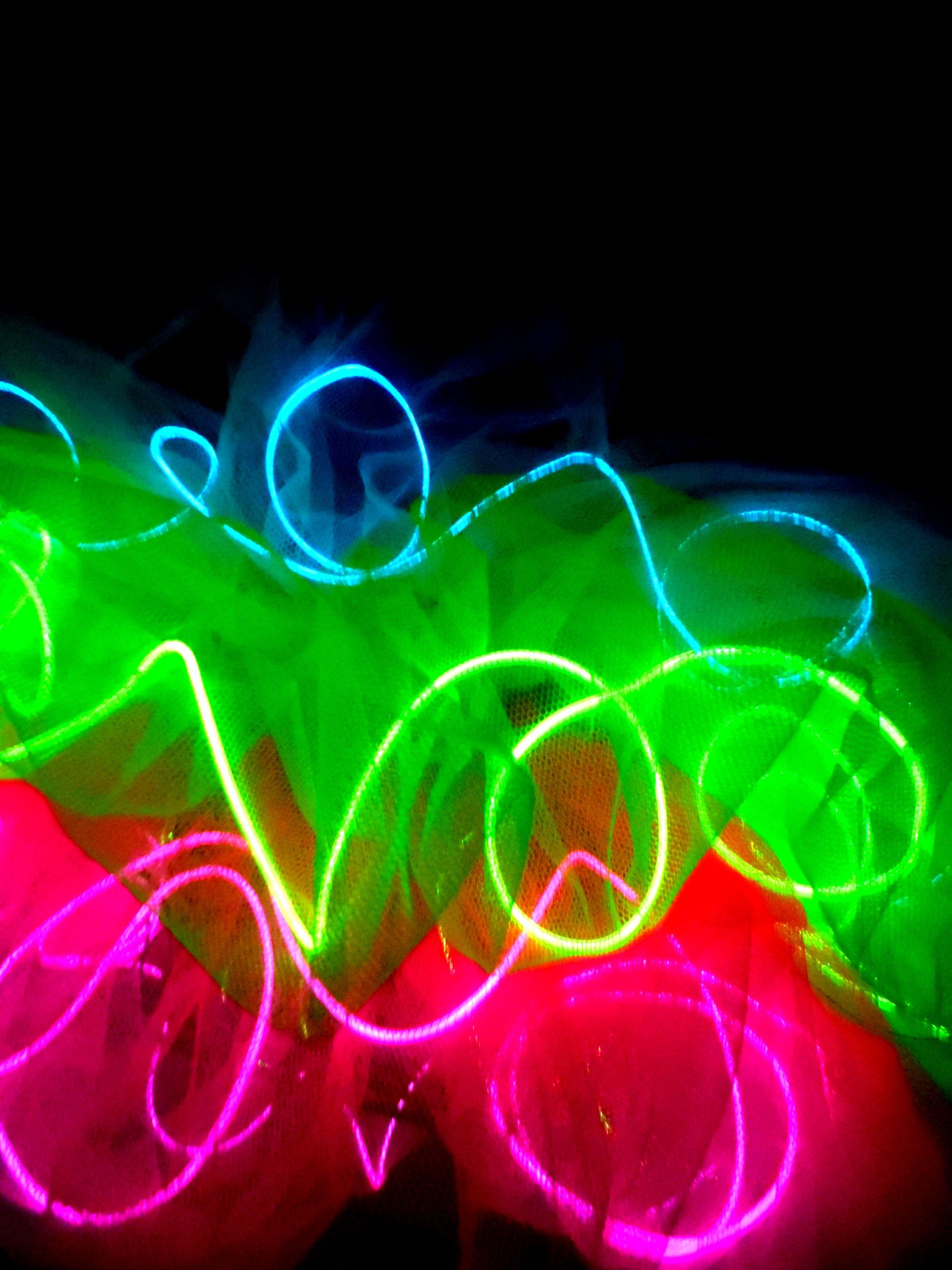 Light Up Tutu Close Up Neon Tutu El Wire Rave