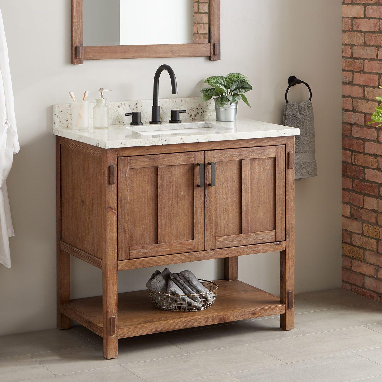 36 Morris Console Vanity For Rectangular Undermount Sink Bathroom Vanities Bathroom Single Bathroom Vanity Wooden Bathroom Vanity Bathroom Furniture