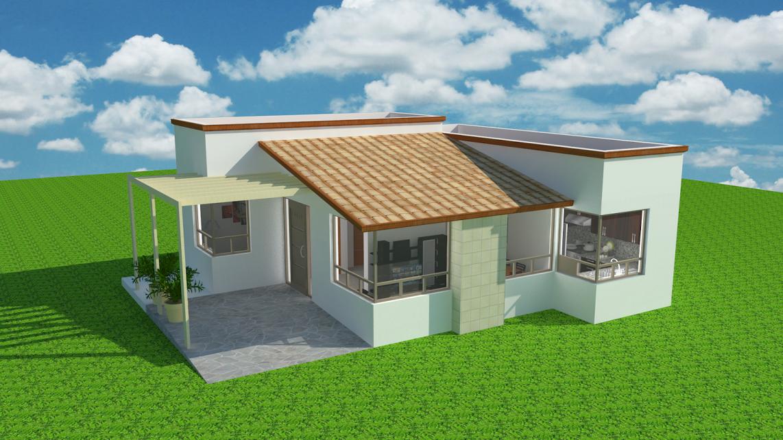 Espaciohonduras dise os y planos de casa estilo for Proyectos casas minimalistas