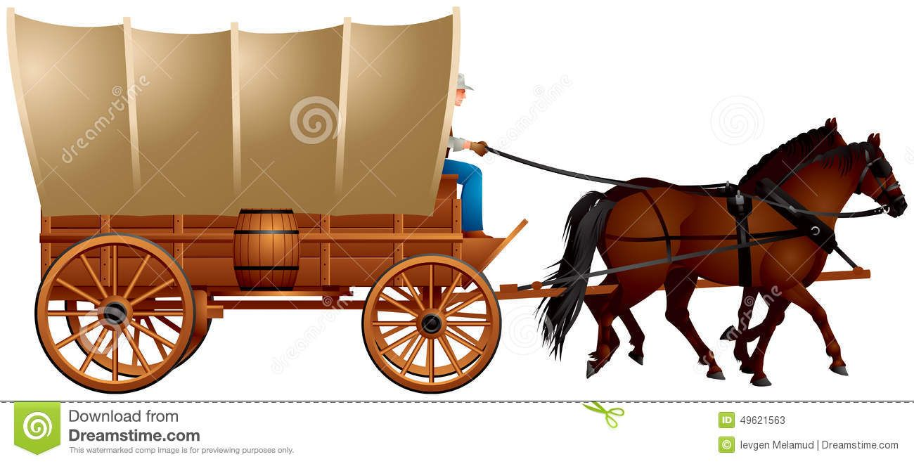 wild west clipart covered wagon 2 [ 1300 x 660 Pixel ]