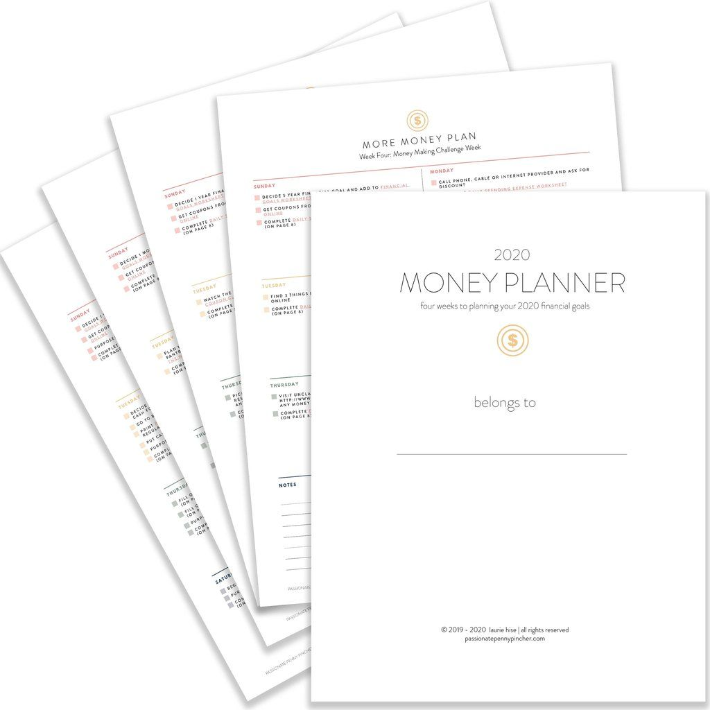 Money Planner Worksheets Pack Download