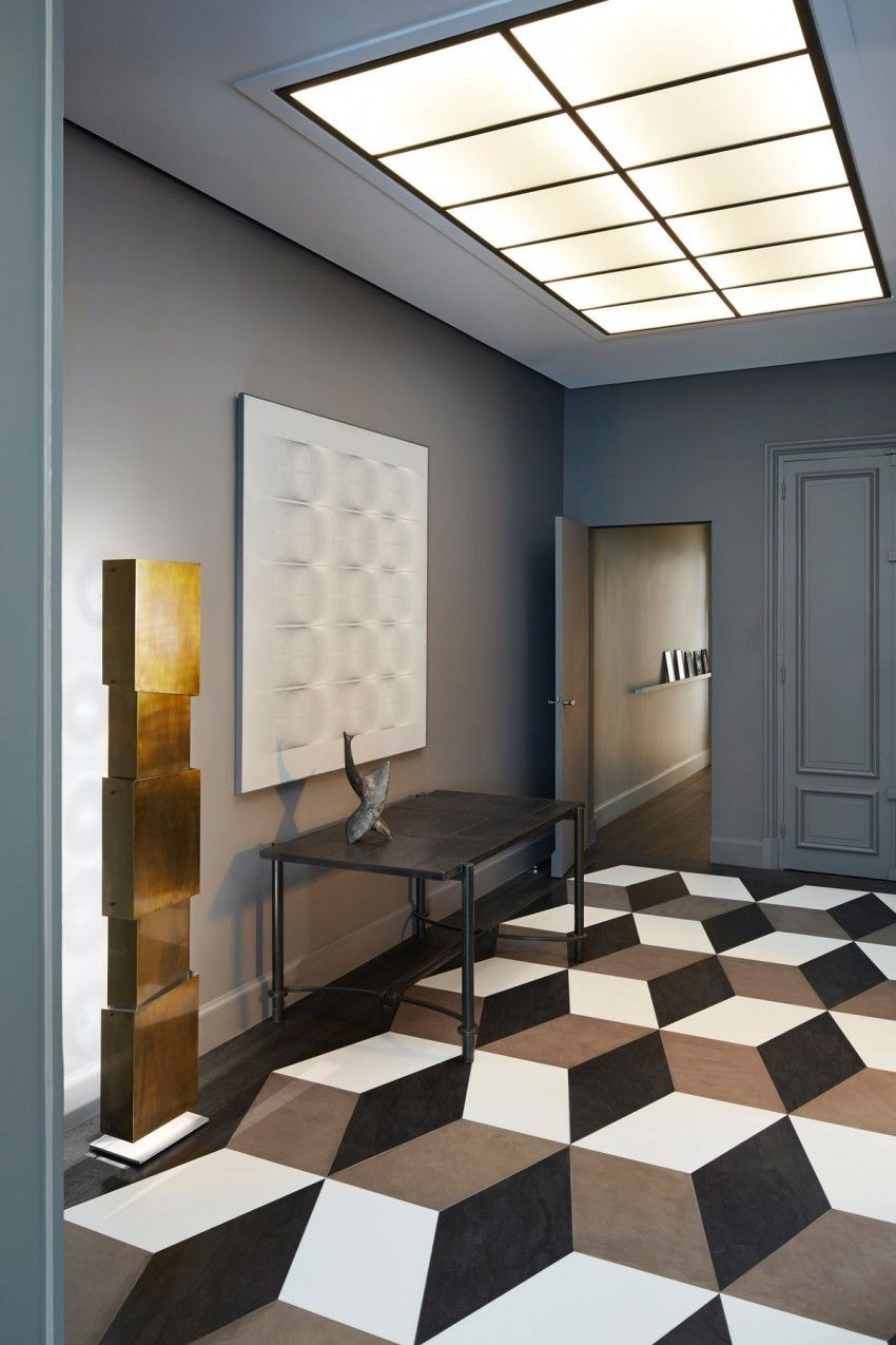 Paris solférino by sarah lavoine interiors floor patterns and spaces
