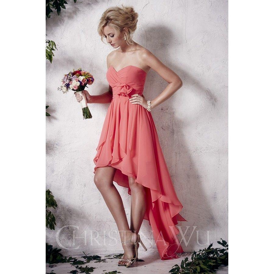 Christina Wu 22648 Dress Sweetheart Bodice High-Low Skirt Floral ...