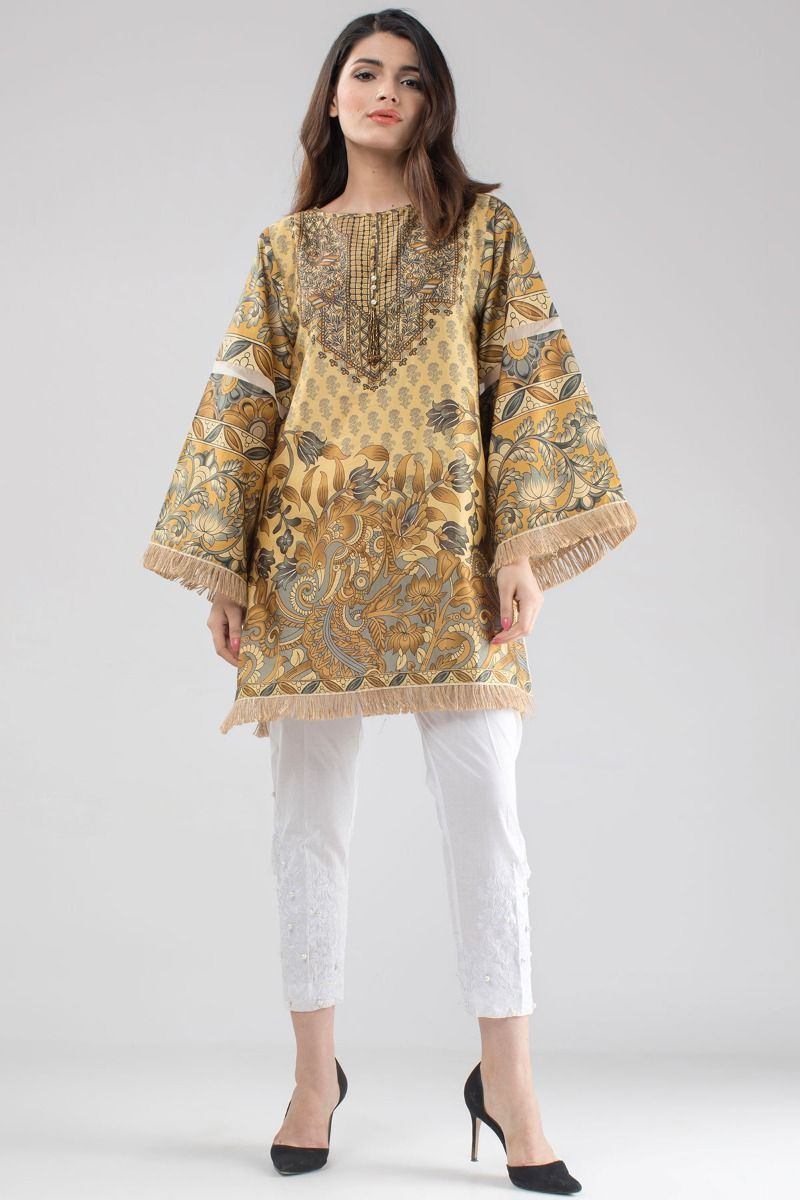 1488d55457d1 Pretty stitched beige pret shirt by Khaadi ready to wear summer ...