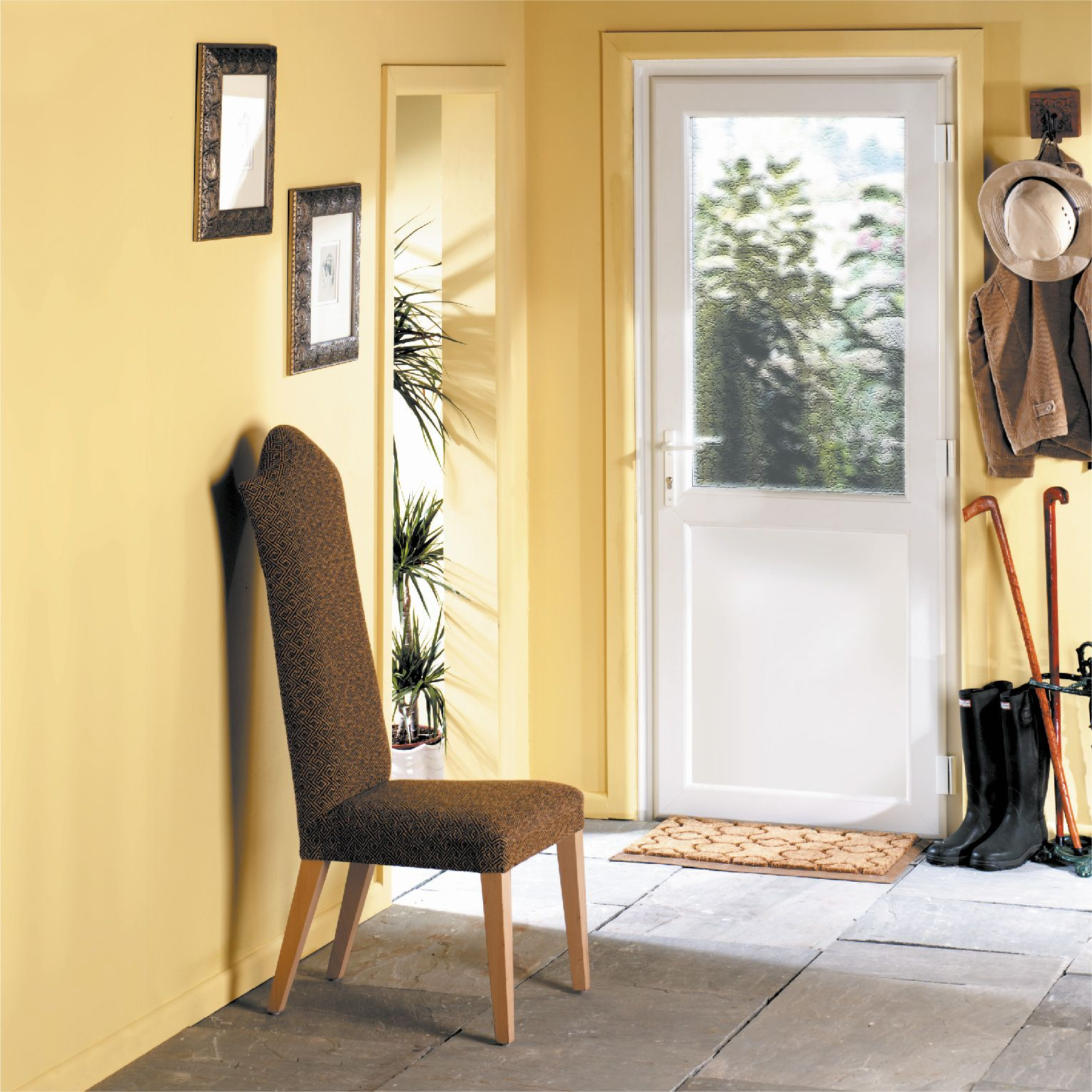 The garden door is often neglected but styling the walls with a ...