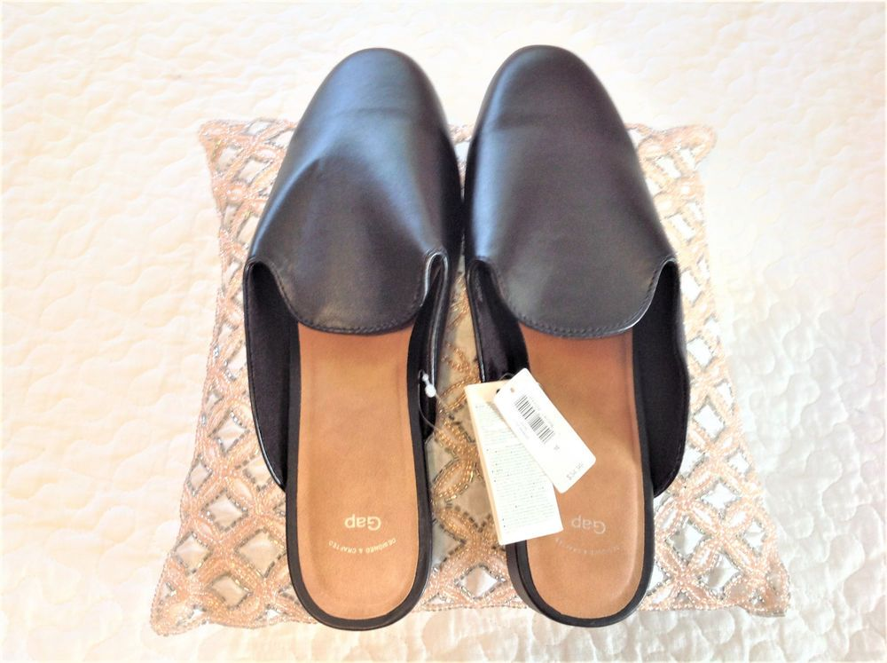 b4d9a3743 GAP Women Mules Size 6 NWT Black  fashion  clothing  shoes  accessories   womensshoes  flats (ebay link)