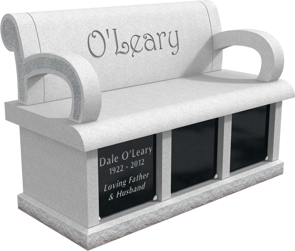 Cremation Memorial Bench For The O Leary Family Memorial Benches Custom Memorial Unusual Headstones