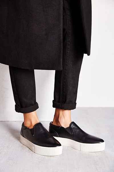 Ash Karma Leather Platform Slip-On