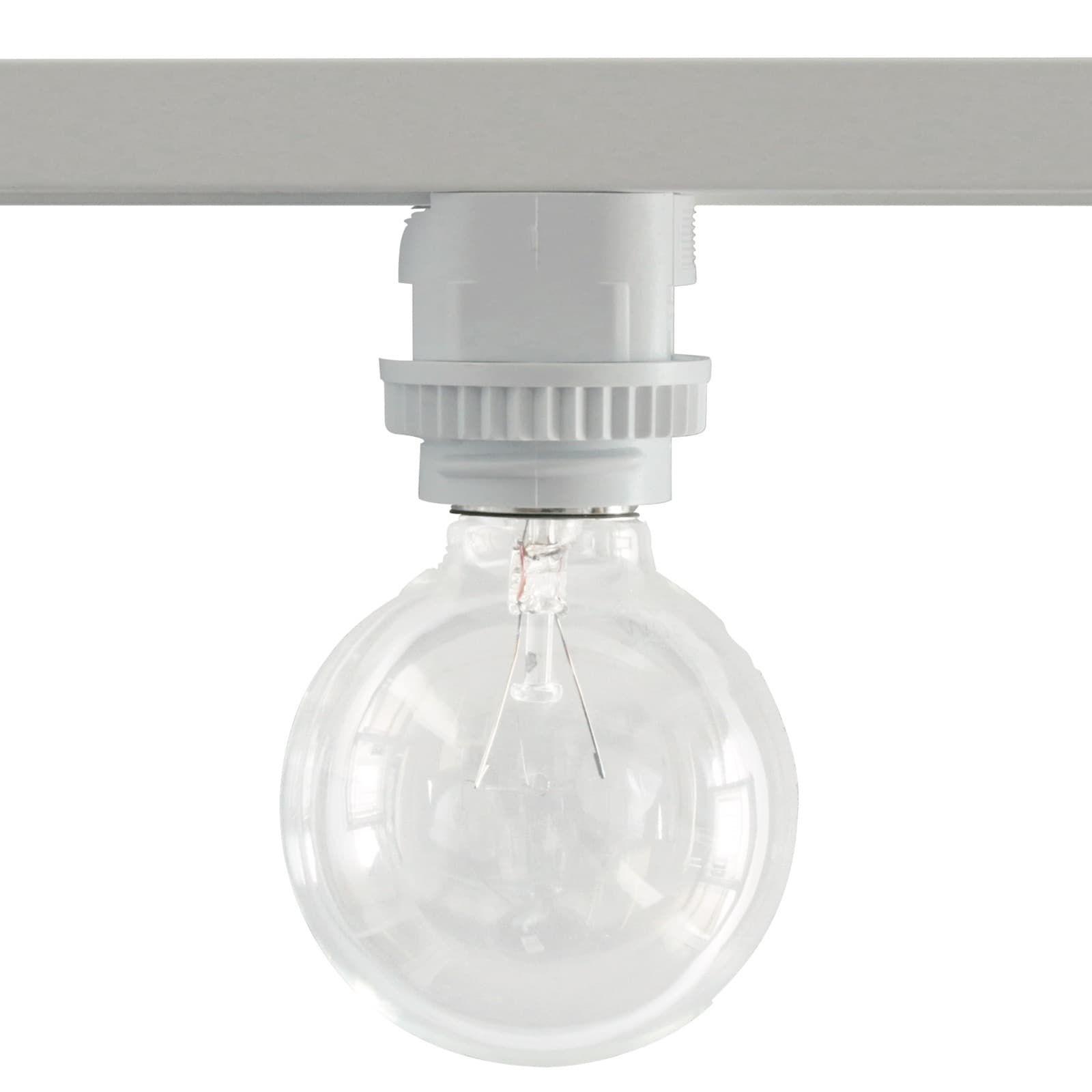 サイズ レール下 H41 F43mm素材 樹脂適合電球 白熱灯 60w 電球形蛍光灯 60w型 Led電球 60w相当 口金 E26 ライティングレール 電球 形 Led電球