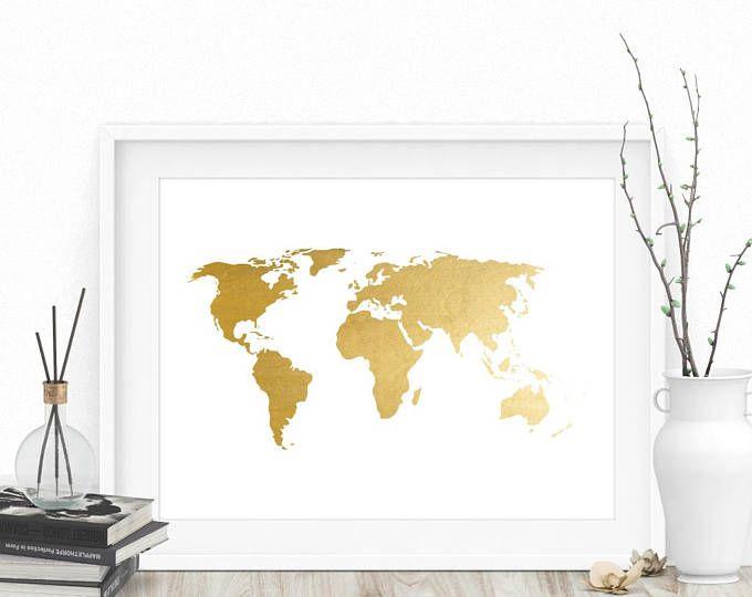 Gold world map gold world map print gold map print world map gold world map gold world map print gold map print world map wall gumiabroncs Gallery