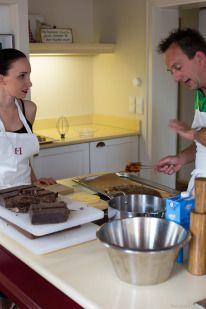 Foodblog - Patisserie - Schokoladentörtchen mit Himbeeren - Rezept - Koch: Olivier Fabing - Location: Lösch für Freunde