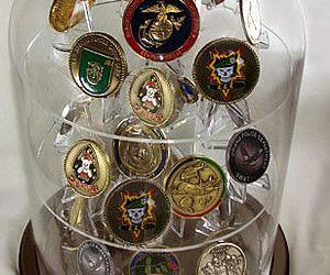 Coin Globe Shelf Display Large, challenge coin display, military ...