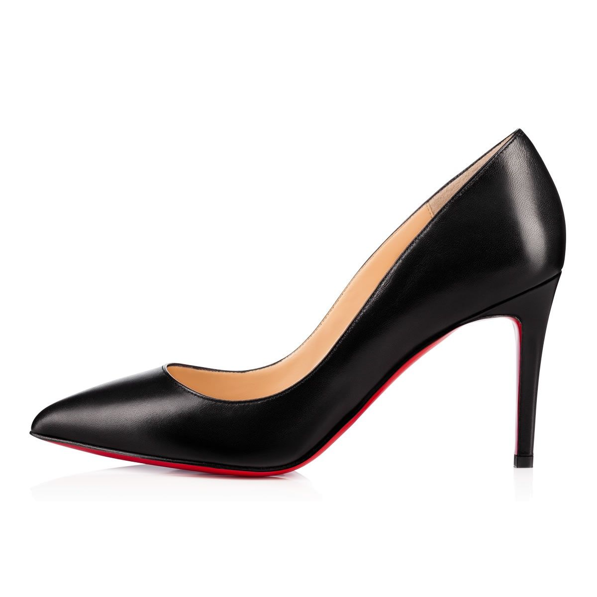 Pigalle 85 Black Leather - Women Shoes - Christian Louboutin