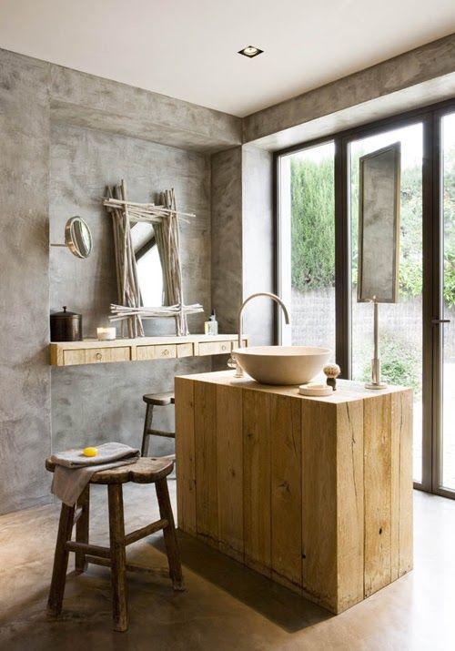 bagno+cemento+++legno.jpg 500×715 pixel | Idee per la casa ...