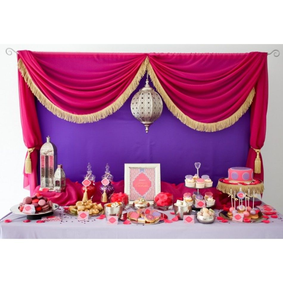 Stunning Moroccan Birthday Party Dessert Table Bindalli   Kaftan  Henna  Night  Hen Party  Purple  Bridal  Turkish Bridal Shower  Traditional  Wedding  Before ...