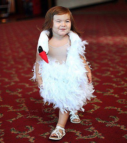 bjork inspired costume but with blue flamingo instead? Halloween - mother daughter halloween costume ideas