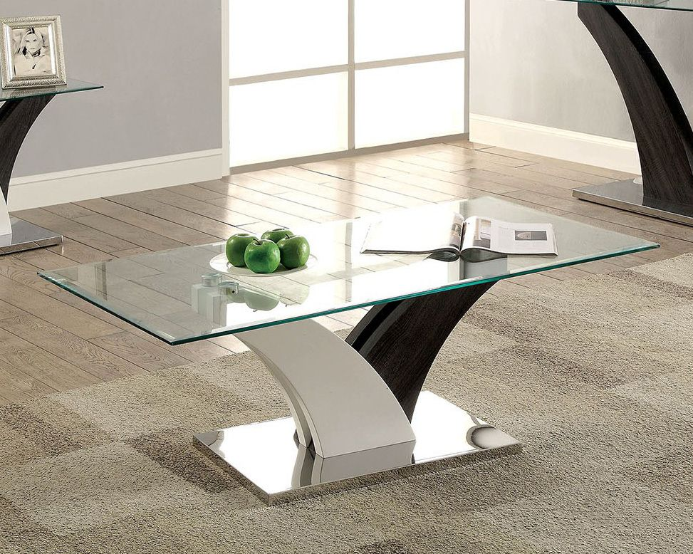 Furniture Of America Cm4244 Rectangular Glass Occasional Table Coffee Table Living Room Coffee Table Contemporary Coffee Table