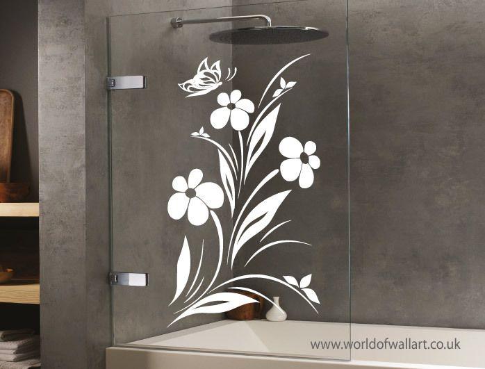 World Of Wall Art   Flower Butterfly Shower Screen Sticker, £9.99  (http://www.worldofwallart.co.uk/flower Butterfly Shower Screen Sticker/)