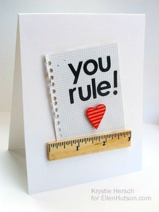 You Rule By Krystie Hersch With Images Teachers Day Card