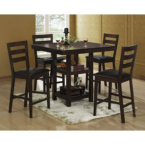 Exceptional Bunker Hill 5 Piece Counter Height Dining Set, Espresso