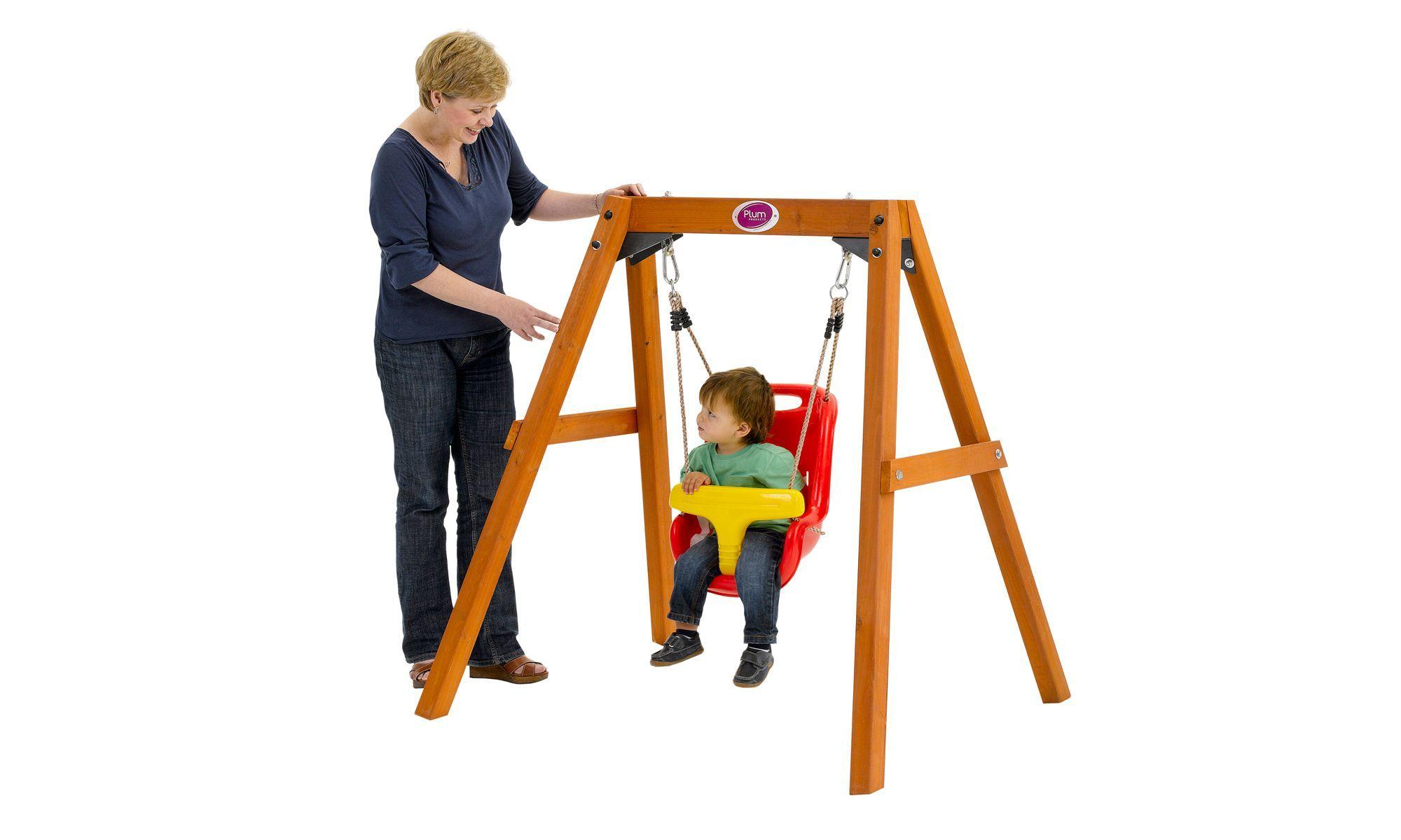 Plum Wooden Baby Swing Set Baby swing outdoor