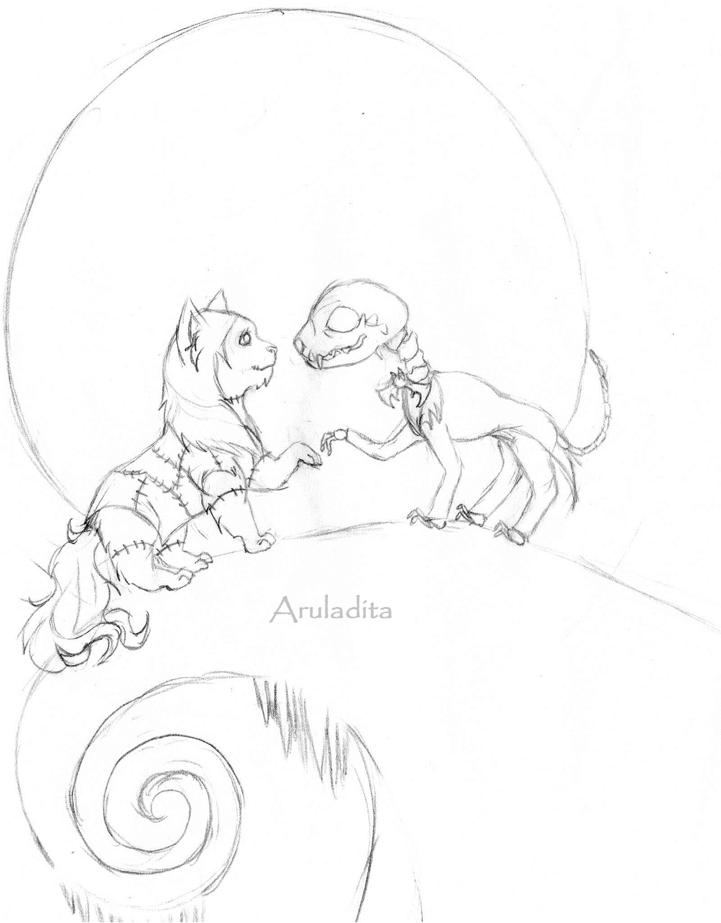 The Nightmare Before Christmas Sketch By Aruladita On