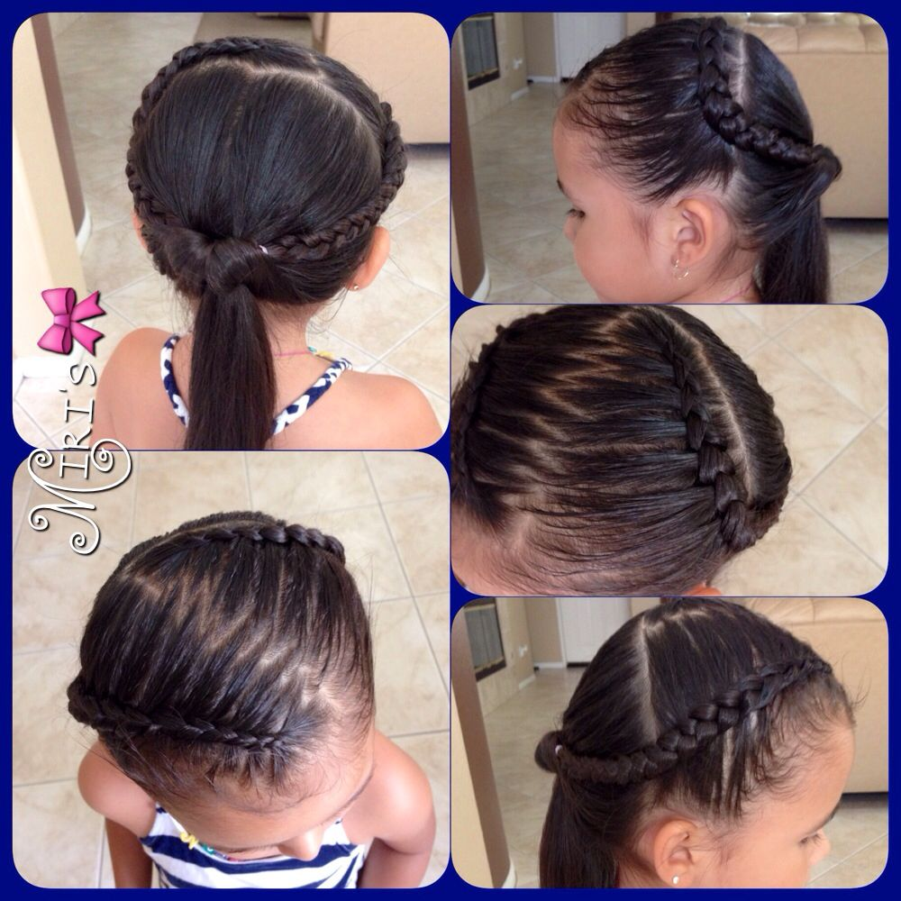 Zigzag With Two Braids Hairstyle For Little S