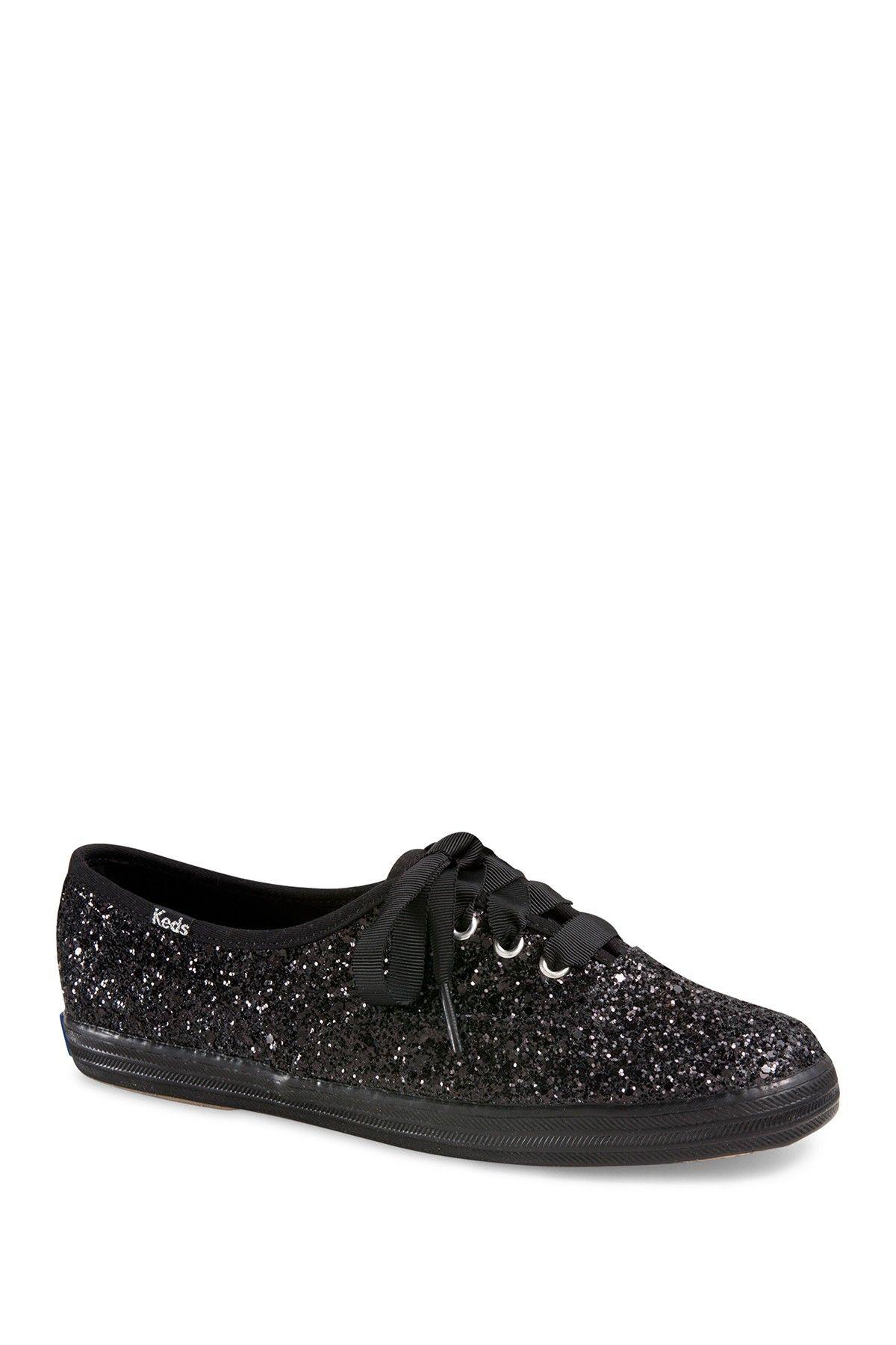 f85739649c3 Black Glitter Keds.