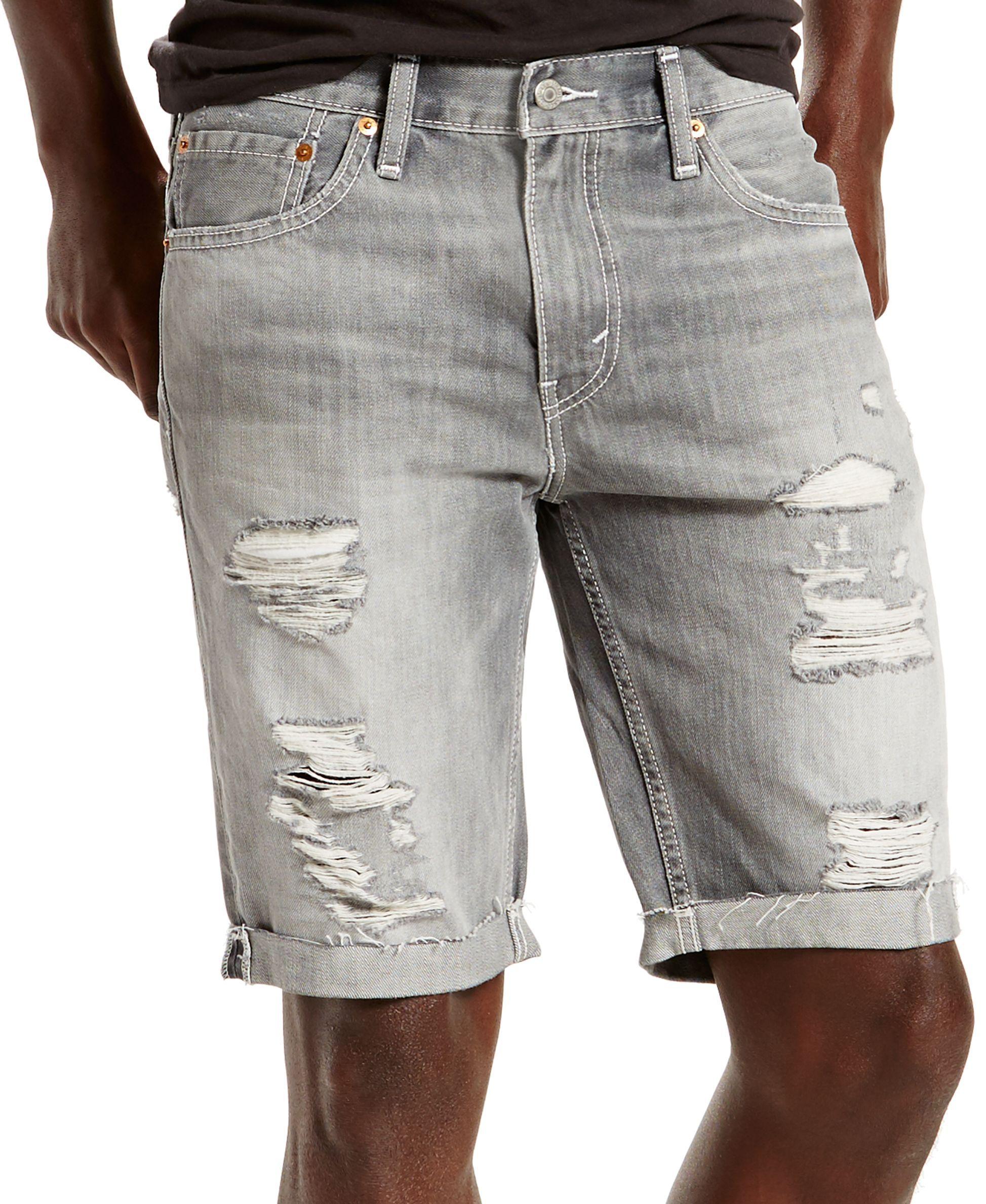 eee113b7 Levi's 511 Slim-Fit Goodlands Grey Cutoff Ripped Jean Shorts ...