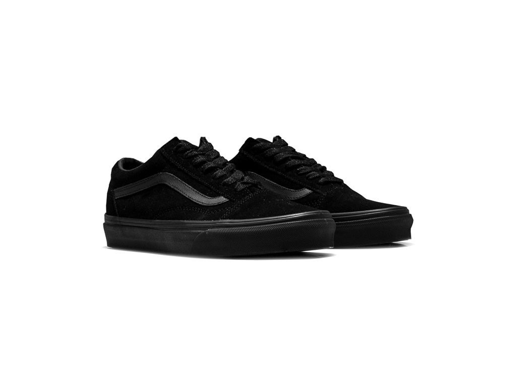 all black suede old skool vans