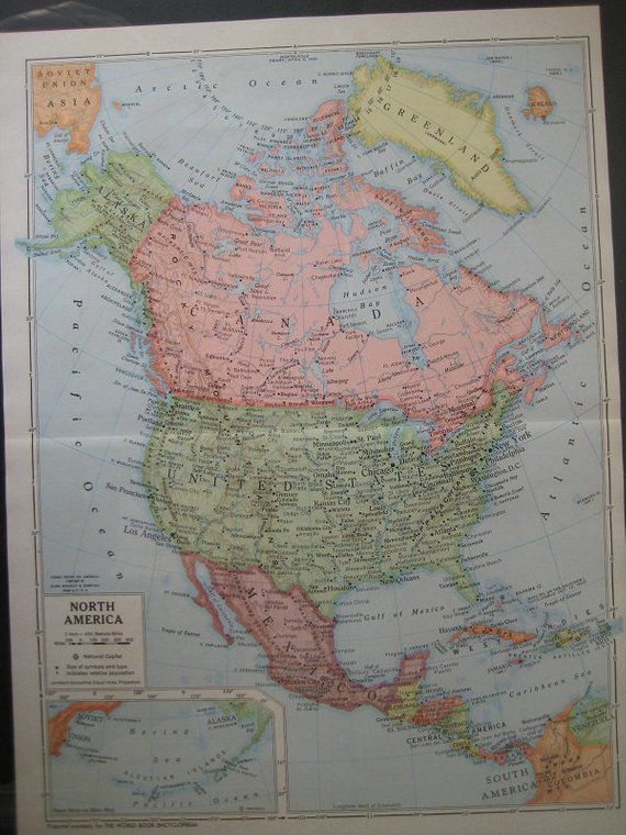 Color Map Of North America.Large Color Map Of North America Products In 2018 North America