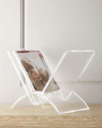 Interlude Home Versa Acrylic Magazine Rack With Images Acrylic Furniture Stylish Flooring Magazine Rack