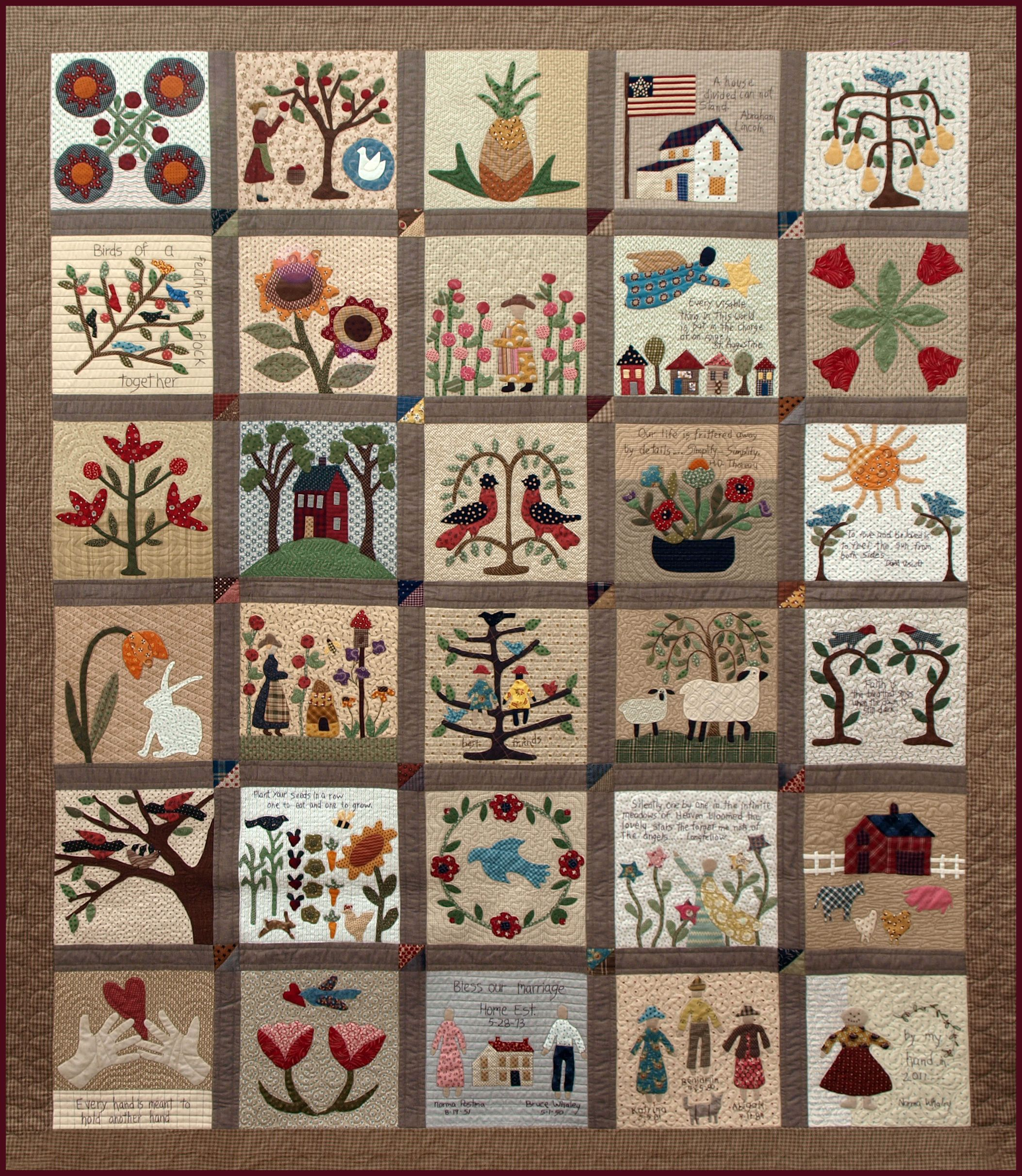 Sweet And Simple No Pattern Just The Lovely Picture Applique Quilt Patterns Quilt Patterns Quilts