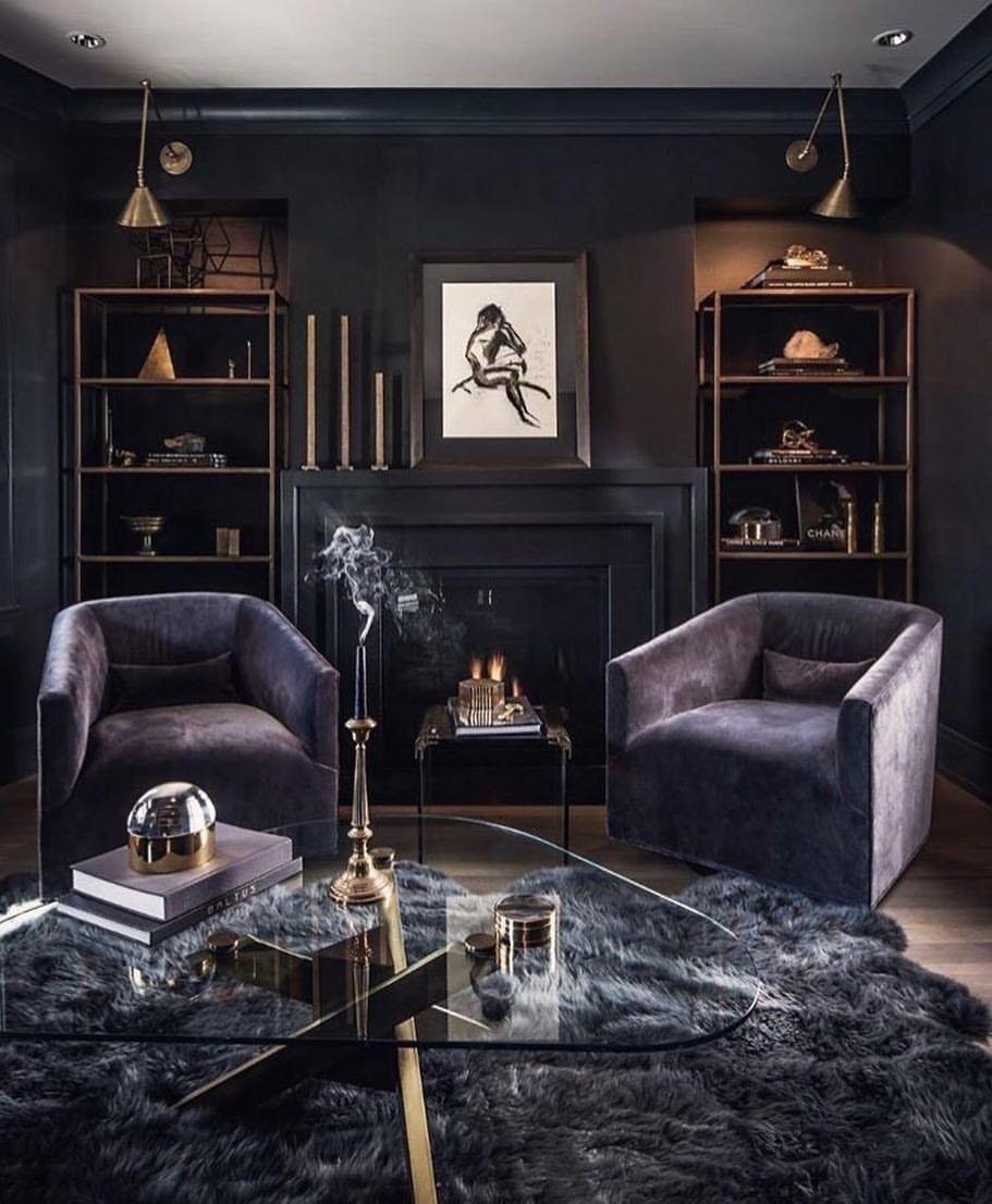 37 Dark And Moody Living Room Decorating Ideas Dark Living Rooms