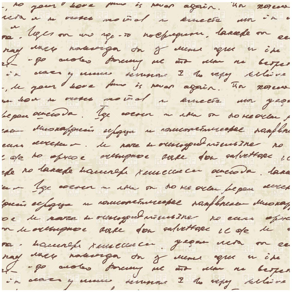 Seamless Vintage Script Pattern Grunge Background With Handwritten
