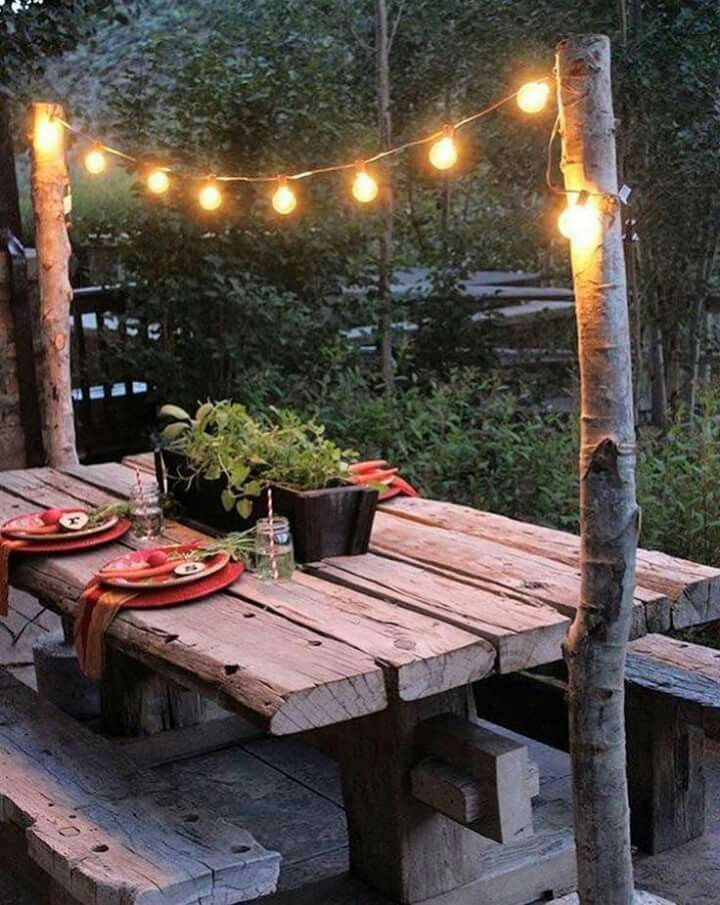 Even Simple Things Can Transform A Plain Picnic Table Http Www Arcsvaluevillage Org