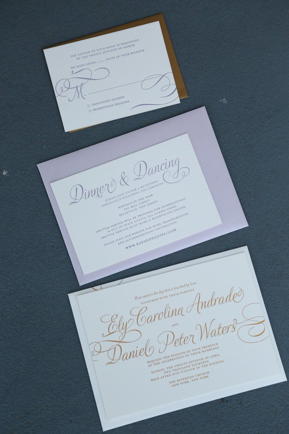 Today on The Bridal Boutique // Gold Foil Wedding Invitation Suite ...