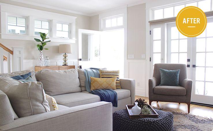 Before + After San Diego Home west elm Living Room Pinterest