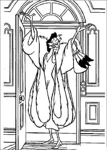 Cruella De Vil Coloring Page From 101 Dalmatians Category Select