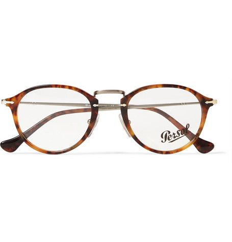 b02435d7a7 Persol Round-Frame Acetate and Metal Optical Glasses