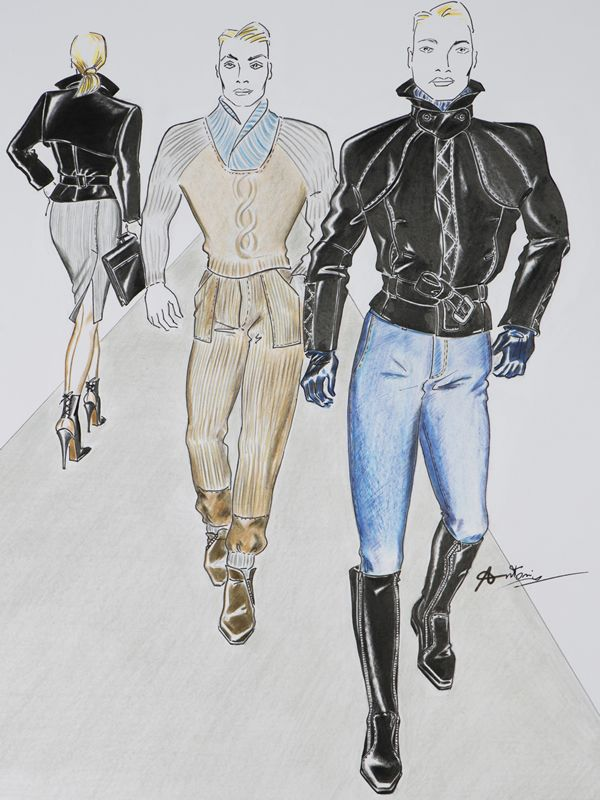 fashion design by Antonio Lilliu - Tradewinds for fashion